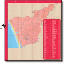 Plan de la commune de Plovan, index des lieux dits